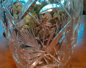 Stunning Vintage Crystal Vase Flowers Holiday Centerpiece Gift Wedding Shower Friend Birthday Just Because Hodge Podge Cottage