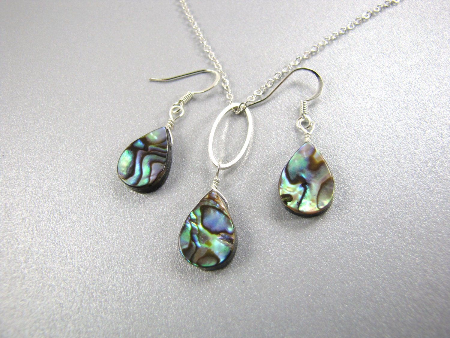 abalone earrings and necklace paua shell earrings paua shell