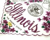 Vintage Illinois Handkerchief New Old Stock