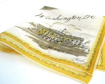 Vintage Burmel Souvenir Handkerchief Washington DC