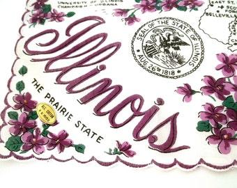 Vintage Illinois Handkerchief New Old Stock