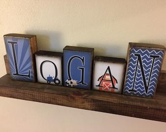 Personalized Name Loft blocks