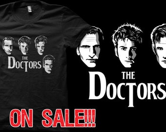 DISCOUNT - Doctor Who Time Lord Beatles Parody Cover T-shirts