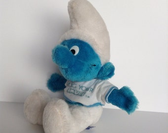 1979 Hug Your Smurf Plush By Peyo