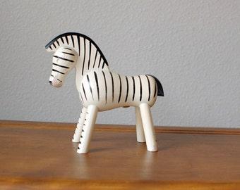 Mid Century Modern Bojesen wooden zebra danish denmark