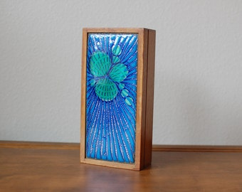 Vintage Annemarie Davidson Abstract Jewel enamel covered trinket card box mid century