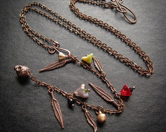 Witches Ladder Y Necklace. Witches Ladder Flying Ointment Rosary