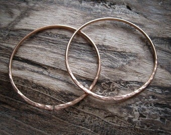 12g Hoops in Bronze for Stretched Ears.  Nahusha Hoops.