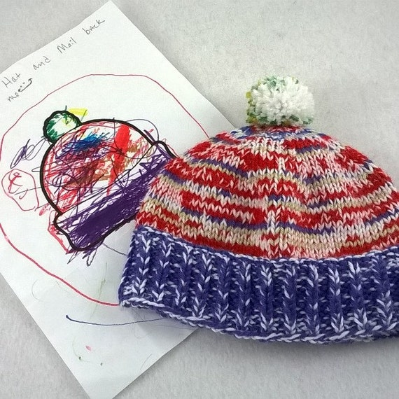 Knitting Pattern Books Hats : PDF Kids Coloring Book Hat Knitted Pattern