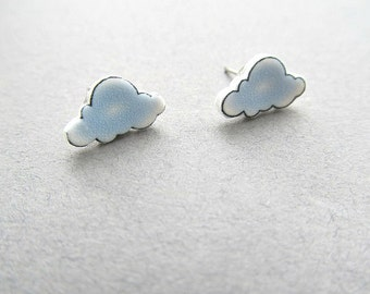 Cloud Stud Earrings Rainy Day, Stormy Weather