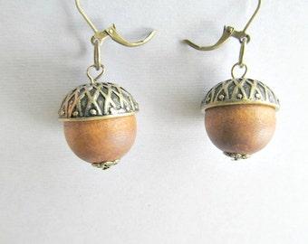 Fall Acorn Dangle Earrings