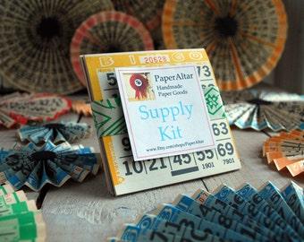 B I N G O !! Bingo Pads, 5 Paper Bingo Pads, Border Color Bingo Pad Supply Kit