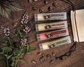 GARDEN Lip Balm Gift Set - Jasmine Tea Rosebud Pear Blossom Basil Mint Stocking Stuffer