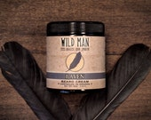 Beard Grooming Cream - Wild Man - Raven - Beard Balm 113g // 4oz