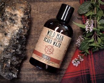 Mens Beard Wash Wild Man - TUNDRA - Beard Soap Shampoo - 120ml // 4oz Grooming