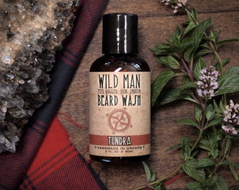 Mens Beard Wash - Wild Man - TUNDRA - Beard Soap Shampoo - 60ml // 2oz