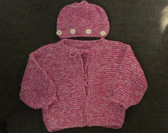 Baby Girl Sweater & Hat