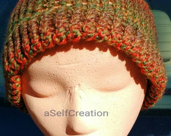Colorful Autumn Adult Beanie Hat