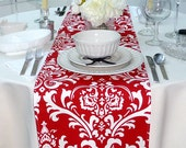 Choose your Table Runner, Table Runner Red and White