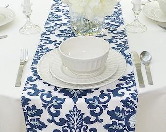 Blue Table Runner | Etsy