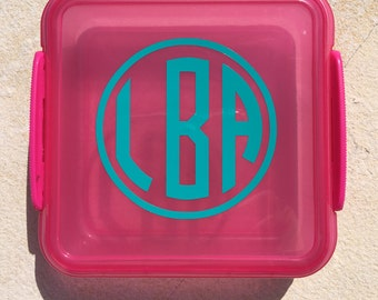 Personalized Sandwich Holder, Sandwich Container, Monogrammed Sandwich Holder, Back to School, Lunch Container, Back to School container