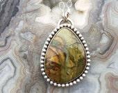 Morrisonite Jasper Sterling Silver Necklace