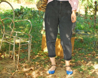 Black High Waisted Pants VINTAGE 80S high rise mom jeans