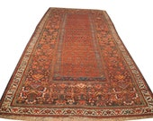 4x8 Antique Kurdish Rug Runner