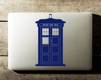 Doctor Who Tardis Laptop Decal iPad