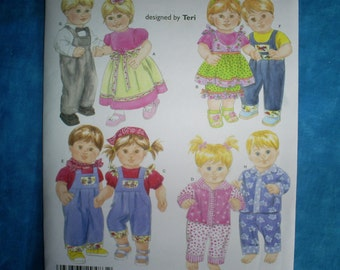 Simplicity 4268 15 inch Doll clothes.