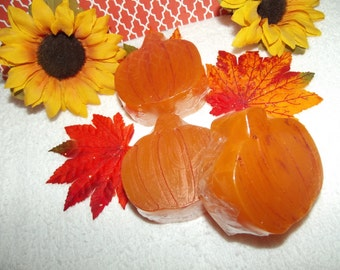 Pumpkin Glycerin Soap Set, Fall Soap Set, Harvest Soaps