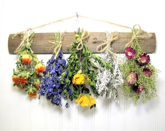 Dried Flower Rack, Dried Floral Arrangement, Rustic Drying Rack for Flowers and Herbs
