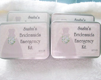Bridesmaids Emergency kits- Bridal Emergency kit- order for everyone!