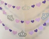 Princess Sofia Inspired Birthday Garland - Princess Decor - Purple Princess garland - Sofia the First Inspired Birthday Party Decorations