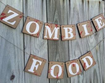 Halloween Decorations - Zombie Banner - Halloween Party Decor - Halloween Banner - The Walking Dead Inspired Decor - Halloween Home Decor