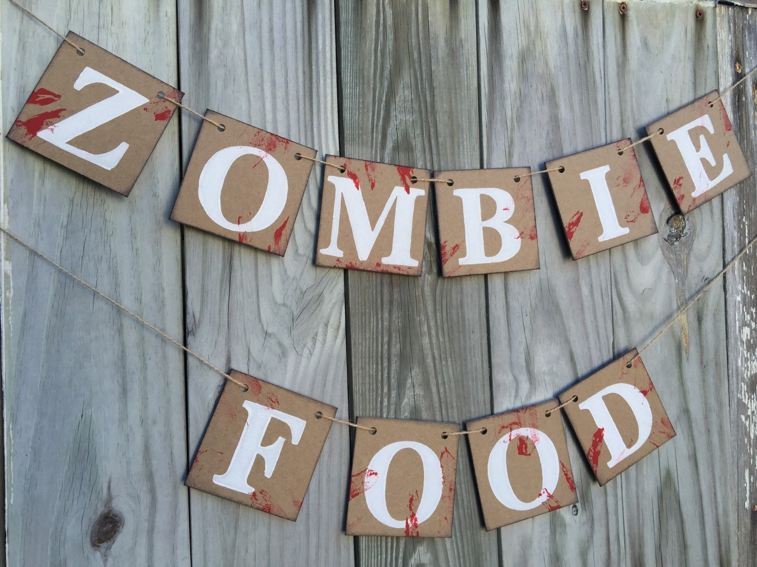 Halloween decorations zombie banner halloween party decor for Decoration zombie