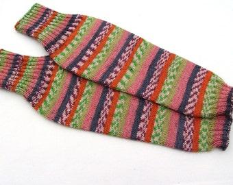 Hand knit women legwarmers, boot cuffs