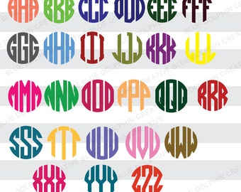 Circle Monogram SVG, DXF, png / cut files / instant download / Cricut, Silhouette / electronic cutters