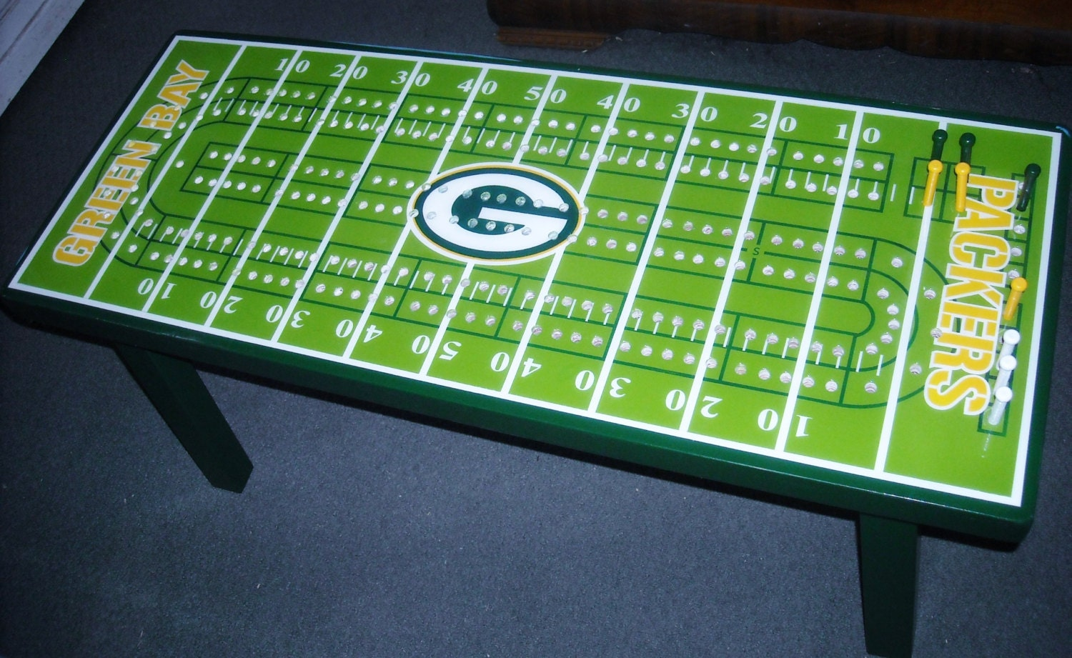 Cribbage board coffee table football cribbage table college zoom geotapseo Gallery