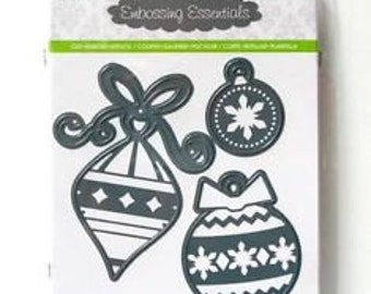 ORNAMENTS Die Cut with Embossing Stencil by Darice