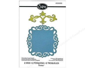 Sizzix Thinlits DECORATIVE ACCENT & LABEL - 658955