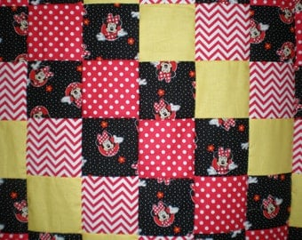 Minnie Mouse Patchwork  Quilt