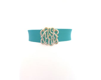 Vintage Turquoise Wide Waist Belt. Size Medium - Large. 80s Elastic Statement Belt. Nan Lewis