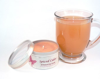 Spiced Cider Soy Candle - 8 oz Tin