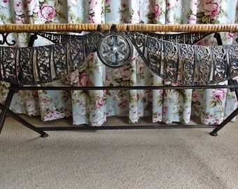 Coffee Table, Unique Vintage Rattan, Wicker Coffee Tables Rattan, Wicker Table, Folding Vintage Table, French Look
