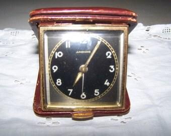 Vintage 1950's Junghans 8 Day Windup Travel Alarm Clock