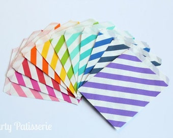 Striped Favor Bags-set of 12  party wedding kids
