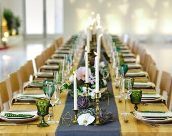 Gray Burlap Table Runner Gray Wedding Decorations Choose Light or Dark Gray Burlap Table Runners