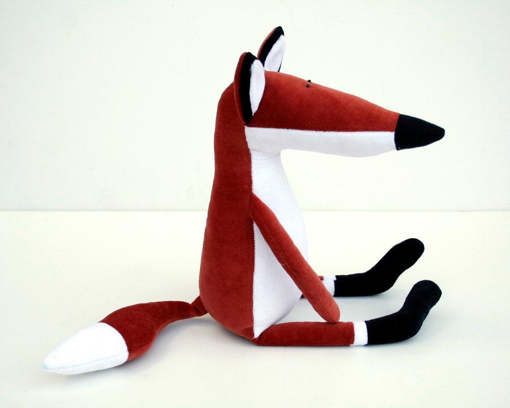 Rusty the Plush Fox, Rusty reddish Stuffed Foxy Toy
