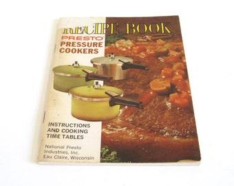 Presto Pressure Cooker Instruction Manual Recipe Book 1960s 1970s PCC4 PCC6 PCC4A PCC4H PCD4 PCD4A PCD4H PCD6 PCD6A PCD6H PCC6A PCC6H